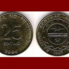 PHILIPPINES 2004 25 SENTIMOS BRASS COIN KM#271 Southeast Asia