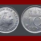 NETHERLANDS 1974 10 CENTS COIN KM#182 XF BEAUTIFUL! Europe Queen Juliana
