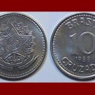 BRAZIL 1988 10 CRUZADOS COIN KM#607 South America - XF BEAUTIFUL