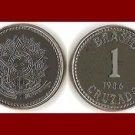 BRAZIL 1986 1 CRUZADO COIN KM#605 South America - XF BEAUTIFUL!