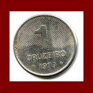 BRAZIL 1979 1 CRUZEIRO COIN KM#590 South America - XF - LOW MINTAGE