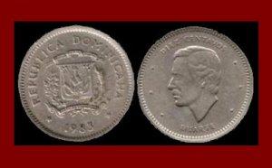 DOMINICAN REPUBLIC 1983 10 CENTAVOS COMMEMORATIVE COIN KM#60 Caribbean