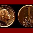 NETHERLANDS 1980 1 CENT BRONZE COIN KM#180 Europe Queen Juliana