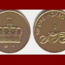 NORWAY 2003 50 ORE BRONZE COIN KM#460 Europe