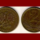POLAND 1979 2 ZLOTE BRASS COIN Y#80.1 Europe - Peoples Democratic Republic