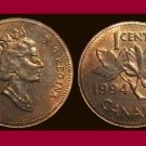 CANADA 1994 1 CENT BRONZE COIN KM#181 North America - Maple Leafs