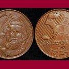 BRAZIL 1998 5 CENTAVOS COIN KM#648 South America