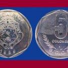 COSTA RICA 1989 5 COLONES COIN KM#214 Central America - BU - Beautiful!