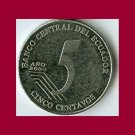 ECUADOR 2000 5 CENTAVOS COIN KM#105 Juan Montalvo - XF BEAUTIFUL!