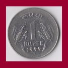 INDIA 1999 1 RUPEE COIN KM#92.2 - BU - BEAUTIFUL!