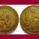 CZECHOSLOVAKIA 1962 1 KORUNA COIN KM#50 Europe
