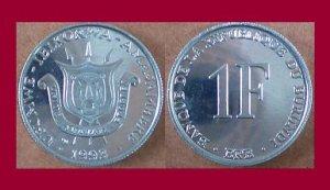 BURUNDI 1993 1 FRANC COIN KM#19 Africa - BU - Very Shiny! Beautiful!