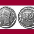 VENEZUELA  2001 20 Bolivares COIN Y#81 South America - UNC - BEAUTIFUL!