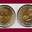 PORTUGAL 1989 100 ESCUDOS Bi-Metallic COIN KM#645 Europe