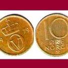 NORWAY 1979 10 ORE COIN KM#416 Europe - XF - BEAUTIFUL!