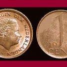 NETHERLANDS 1970 1 CENT BRONZE COIN KM#180 Europe Queen Juliana