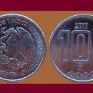 MEXICO 2011 10 CENTAVOS COIN KM#934 - UNC, BU - BEAUTIFUL!
