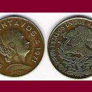 MEXICO 1971 5 CENTAVOS BRASS COIN KM#427 - La Corregidora