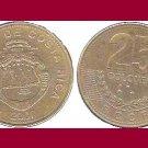 COSTA RICA 2007 25 COLONES BRASS COIN KM#229a Central America