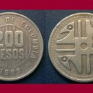 COLOMBIA 1995 200 PESOS COIN KM#287 South America