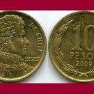 CHILE 2009 10 PESOS COIN KM#228.2 South America - Bernardo O'Higgins Riquelme