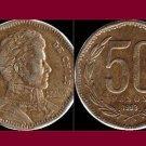 CHILE 1993 50 PESOS COIN KM#219.2 South America - Bernardo O'Higgins Riquelme
