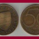 AUSTRIA 1975 50 GROSCHEN COIN KM#2885 Europe - Alpine Flower