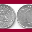 CZECHOSLOVAKIA 1975 10 HALERU COIN KM#80 Europe