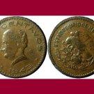 MEXICO 1943 5 CENTAVOS BRONZE COIN KM#424 - Josefa Ortiz de Dominquez