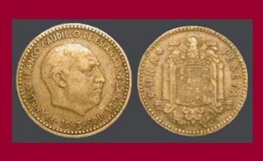 SPAIN 1963 1 PESETA COIN KM#775 Europe - Regent Francisco Franco