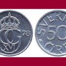 SWEDEN 1978 50 ORE COIN KM#855 Europe - King Carl Gustaf XVI