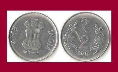 INDIA 2011 2 RUPEES COIN KM#395 - BU - BEAUTIFUL! - Eurasia - Devanagari consonant
