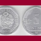 PERU 2010 5 CENTIMOS COIN KM#304.4a - BU - BEAUTIFUL! - South America