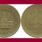 ARGENTINA 1992 25 CENTAVOS COIN KM#110.1 South America - Buenos Aires City Hall