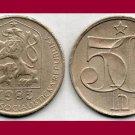CZECHOSLOVAKIA 1985 50 HALERU COIN KM#89 Europe