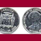 JAMAICA 2008 1 DOLLAR COIN KM#189 Caribbean - AU - BEAUTIFULl!
