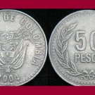 COLOMBIA 2004 50 PESOS COIN KM#283.2 South America