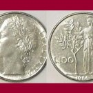 ITALY 1988 100 LIRE COIN KM#96.1 Europe - AU - BEAUTIFUL!