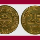 PHILIPPINES 2003 25 SENTIMOS BRASS COIN KM#271 Southeast ASIA