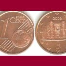 ITALY 2006 1 EURO CENT COIN KM#210 - XF - Europe - Castel del Monte