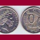 AUSTRALIA 2002 10 CENTS COIN KM#402 - BU - Beautiful! - Lyrebird