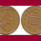 England United Kingdom Great Britain UK 1989 1 PENNY BRONZE COIN KM#935 - Queen Elizabeth II