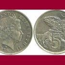 NEW ZEALAND 1999 5 CENTS COIN KM#116 Oceania - XF - Tuatara Lizard