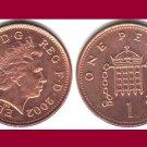 England United Kingdom Great Britain UK 2002 1 PENNY COIN KM#986a - AU - BEAUTIFUL!