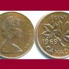 CANADA 1969 1 CENT COIN KM#59.1 North America
