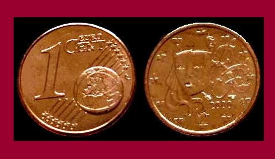 France 2009 1 Euro Cent Coin Km 1282 Europe