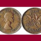 CANADA 1953 1 CENT COPPER COIN KM#49 North America