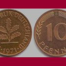 WEST GERMANY 1971 (G) 10 PFENNIG COIN KM#108 Europe - Federal Republic of Germany