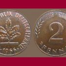 WEST GERMANY 1966 (J) 2 PFENNIG BRONZE COIN KM#106 Europe - Federal Republic of Germany