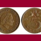 NETHERLANDS 1950 5 CENTS BRONZE COIN KM#181 Europe - Queen Juliana